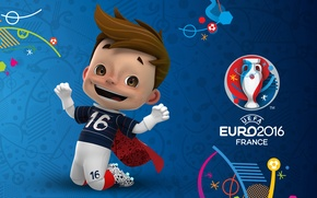 Picture logo, talisman, UEFA, euro 2016, Euro 2016, Super Victor