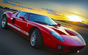 Picture Ford, red, sky, gt
