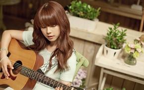 Picture Asian, Guitar, Beauty, Kpop, Cute, Singer, Korean, Juniel