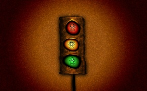 Picture light, red, green, traffic light