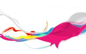 Picture line, squirt, paint, color, liquid