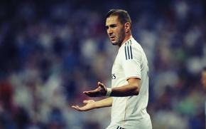 Picture football, hairstyle, beard, dissatisfaction, real Madrid, benzema, Benzema, Karim, ksrim