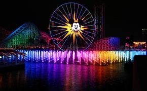 Picture light, night, paint, fountains