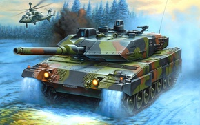 Picture figure, helicopter, Germany, Enzo Maio, leopard 2, main battle tank, the Bundeswehr