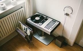 Picture music, record, vinyl, player, headphone, record player, vinyl player