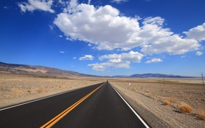 Picture road, the sky, landscape
