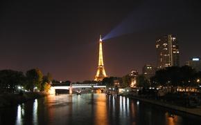 Wallpaper Hay, France, Paris, home, lights, tower, night, river