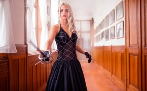Picture girl, sword, Life They Will Treat Guests