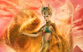 Picture Love, Fantasy, Clouds, Sky, Mythology, Gods, Music, the, Egypt, Female, Dance, Beauty, Golden, Sand, Woman, …