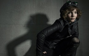 Wallpaper girl, wall, shadow, jacket, the series, TV Series, Selina Kyle, Gotham, Gotham, Camren Bicondova, Camren ...
