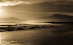 Picture sand, sea, wave, landscape