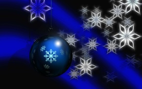 Picture collage, new year, Christmas, ball, decoration, snowflake, postcard