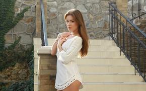 Picture girl, model, brown hair, beautiful, Lily C, Raisa, Natalia E