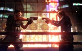Wallpaper weapons, gun, Leon, Chris, Resident Evil 6, resident evil 6