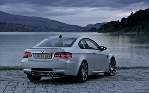 Picture Auto, Lake, BMW, Boomer, Grey, Room, Coupe, Overcast