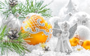 Picture decoration, toys, new year, Christmas