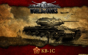 Picture tank, USSR, tanks, WoT, World of Tanks, Heavy tank, THE KV-1S