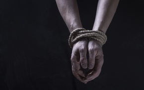 Picture hands, rope, bonds