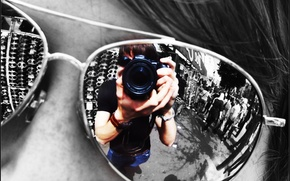 Picture reflection, Glasses, lens