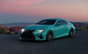 Picture road, view, Lexus RC