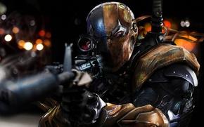 Picture mask, killer, sniper rifle, Slade Wilson, Deathstroke