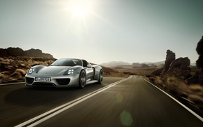 Picture road, speed, Porsche, highway, 918
