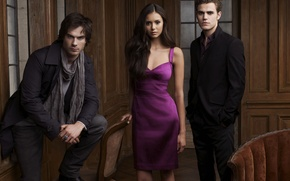 Picture photo, The series, Stefan, Elena, The Vampire Diaries, Damon