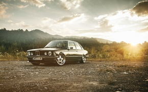 Picture Retro, BMW, Tuning, Classic, Dawn, BMW, Drives, E21, Stance