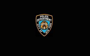 Picture BLACK, SHIELD, LOGO, NYPD