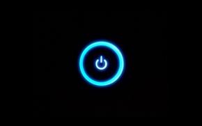 Picture Neon, Black, Button