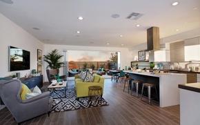 Picture photo, Design, Sofa, Carpet, Kitchen, Interior