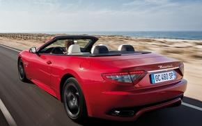 Picture Maserati, Red, Road, Sport, Machine, Convertible, Movement, Machine, Maserati, Red, Car, Car, Cars, Sport, Cars, …