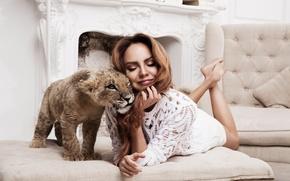 Picture Maxim, Singer, lion, Photoshoot, Maksim, Marina Maksimova, Marina Maximova