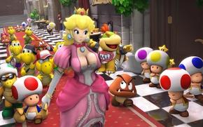 Picture chest, dress, nintendo, Princess, Palace, mario, Princess Peach