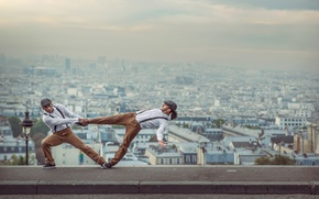Picture the city, background, France, Paris, dancer, French Wingz