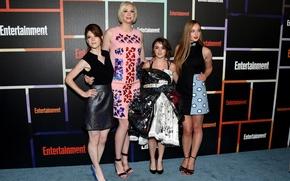 Picture Game of thrones, Sophie Turner, Rose Leslie, Maisie Williams, Gwendoline Christie