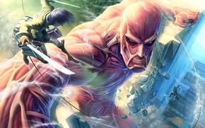 Picture anime, invasion, the titans