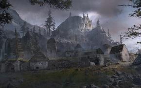 Picture Girl, Mountains, Snow, Art, Tomb raider, Lara croft, Siberia, Rise of the Tomb Raider