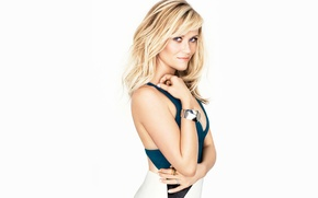 Picture model, skirt, makeup, actress, hairstyle, blonde, photographer, white background, t-shirt, Glamour, Reese Witherspoon, Reese Witherspoon, …