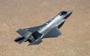 Wallpaper Lockheed Martin, earth, F-35A, Lightning II, fighter, pilot, bomber, flight