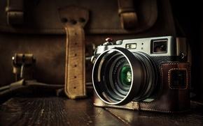 Picture macro, background, camera, Fuji X100T