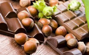 Wallpaper hazelnuts, shell, chocolate, nuts, tiles