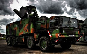 Picture the Bundeswehr, SAM, Roland, chassis 8x8 MAN, the German-French anti-aircraft missile system