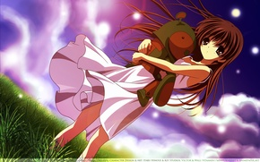 Picture girl, robot, Clannad, Clannad