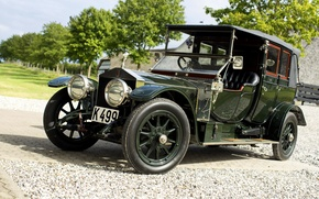 Picture Rolls-Royce, Cabriolet, rolls-Royce, Silver Ghost, 1912, Fry in the style of Barker