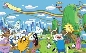 Picture Wallpaper, dog, art, dog, Jake, adventure time, adventure time. art. cartoons