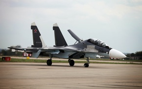 Picture the plane, fighter, super-maneuverable, Dry, The Russian air force, multifunction, Su-30CM, MAKS-2013