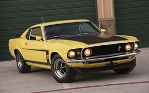 Picture mustang, 1969, ford, yellow, 302, boss