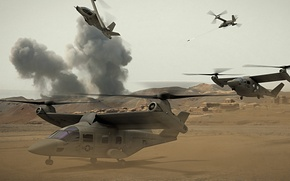Picture future, figure, art, helicopter, prototype, hybrid, the tiltrotor, bell, us army, rotor, tandem