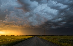 Picture road, the sky, Jeff Wallace
